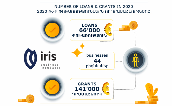 EU Supported IRIS Business Incubator's Investments in 2020